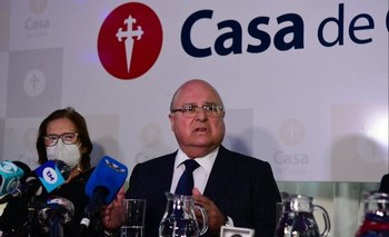 Alberto Iglesias, presidente de Casa de Galicia. La institución reclama acceder a un fideicomiso por US$ 12 millones