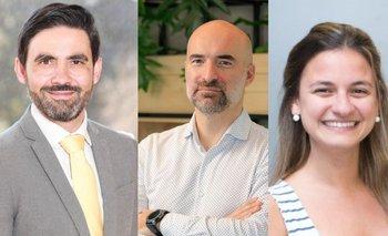 Fernando Domingues, Alejandro Pazos y Verónica Figueras