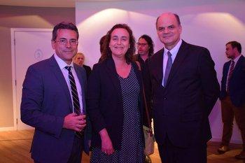 Jorge Suarez, Susana Perutzzo y Andrés Tolosa