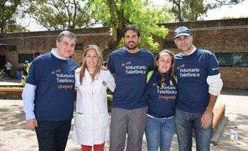 José Pedro Derregibus, Flavia Mareiro, Nicolás Manta, María Noel Orellano y Fernándo Leis