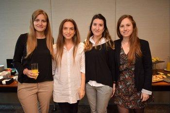 Alejandra Ramella, Nadine Bruck, Mercedes Oliver y María Jesus Beltrán