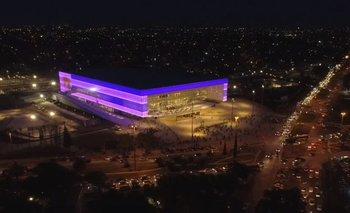 Vista aérea del Antel Arena