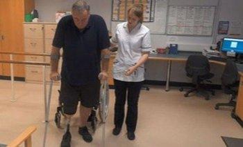 Stephen Richardson fue sometido a una amputación de pierna debido a complicaciones de diabetes tipo 2.