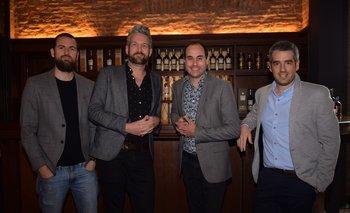 Mathias Leguizamon, Fraser Campbell, Federico Palleiro y Matias Mirabal