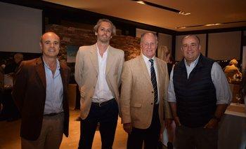 Victor Rodríguez, Martin RObaina, Carlos Francci y Gonzalo Aguirre
