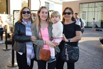 María Delia Silva y Rosas, María Carrasco, Manuela Rodríguez y María Silva y Rosas