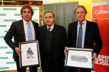 Guillermo Almada, Ricardo Peirano y Edgard Welker en Fútbolx100