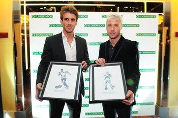 Iván Alonso e Israel Damonte en Fútbolx100