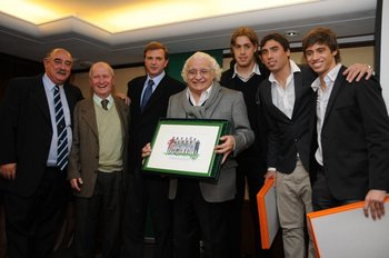 Nono Giuria, Mario Menénez, Sebastián Bauzá, Ricardo Alarcón, Sebastián Coates, Facundo Píriz y Mathías Cabrera en Fútbolx100