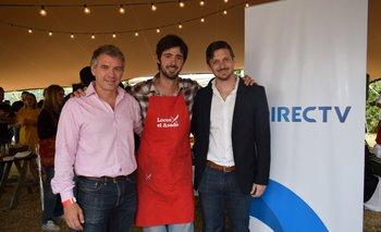 Eduardo Marguery, Luciano Luchetti (Laucha) y Gonzalo Urrutia