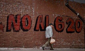 En Buenos Aires fueron múltiples las manifestaciones contra la cumbre de presidentes