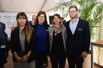 Silvana Beeguer, Natalia Añon, Sofia San Pedro y Diego Wainberg