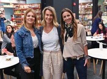 Verónica Cataldi, Ana Delisant y Lorena Bello