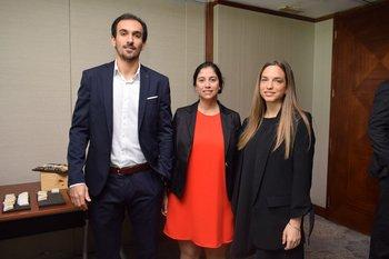 Mauro Bonfiglio, María inés Eibe y Nadine Bruck