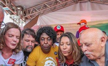 La novia de Lula, Rosángela da Silva, segunda desde la derecha, celebra el pasado 27 de octubre el cumpleaños 74 de Lula Da Silva