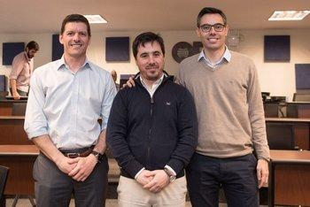 Francisco Rosas, Daniel Gramoso y Gonzalo Argenti
