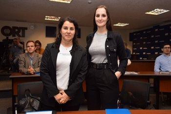 Lourdez González y Chiara Monetti