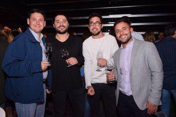 Gerardo Tajes, Gerardo Bentancur, Santiago Pereyra y Diego Dubroca