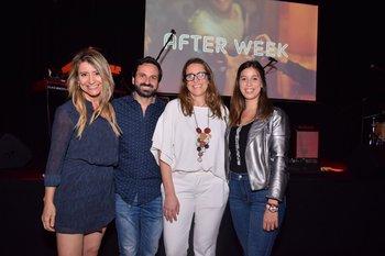 Karen Jawelts, Jaun Andrés Marichal,Karina Spremolla y Eliana Comesaña