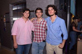 Juan Martín Pesce, Juan Lucas Abreu y Felipe Núñez
