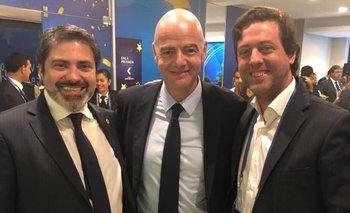 Gastón Tealdi, Gianni Infantino e Ignacio Alonso