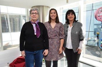 Inés Fuentes, Laura Antunes y Laura Villanueva