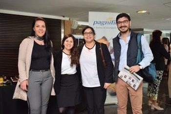 Johanna Miqueiro, María Eugenia Álvarez, Silvana Acosta y Alexis Correa