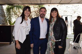 Bethania Morisio, Andrés Álvarez y Rosina Peluffo