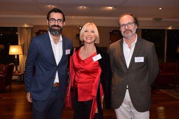 Roberto Clermont, Norma Pontet y Ernesto Bastarrica