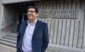 El comunicador Aldo Silva en Radio Sarandí