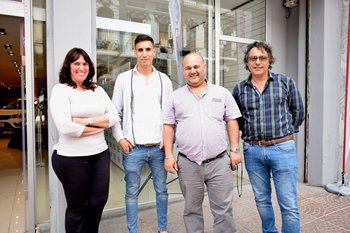 Rossana Orsi, Rodrigo García, Enrique Cottens y Mario Salomon