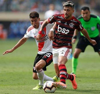 Giorgian De Arrascaeta en la final de la Copa Libertadores 2019
