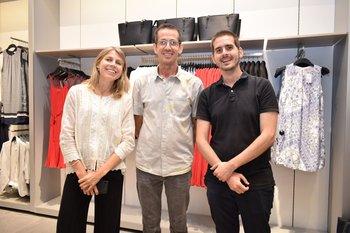 Eliana Alonso, Gustavo Velazco y Federico Bergamino
