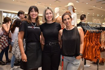 Patricia Fernández, Ivalú Muscarelli y Sofia Girat