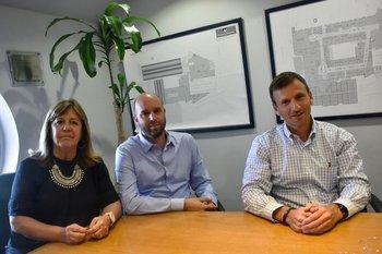 Ana Lecueder, Javier Galli y Pablo Garbarino