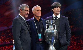Fernando Santos de Portugal, Didier Deschamps de Francia y Joachim Loew de Alemania, los técnicos del grupo de la muerte