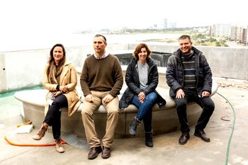 Cecilia Caitano, Ing. Ari Rener, Arq. Mónica Visca e Ing. Daniel Rener