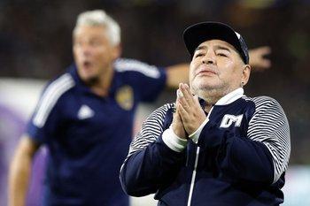Maradona en Gimnasia