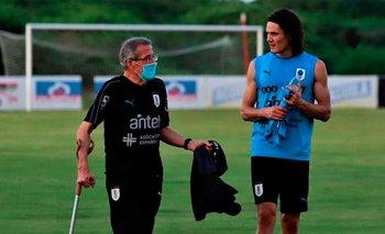 Tabárez y Cavani esperan poder volver a verse en octubre