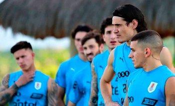 Entrenamiento de la selección uruguaya