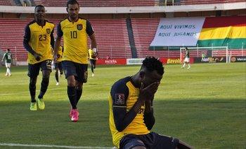 Beder Caicedo, emocionado tras su gol