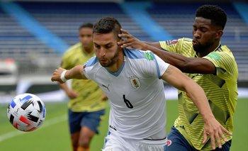 Rodrigo Bentancur recibió amarilla y no jugará ante Venezuela