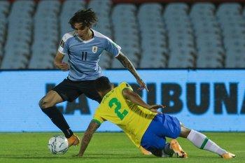 Darwin Núñez frente a Brasil