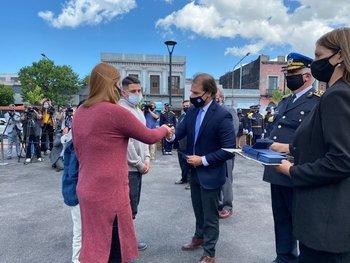 Lacalle Pou participó del homenaje a los policías caídos en funciones