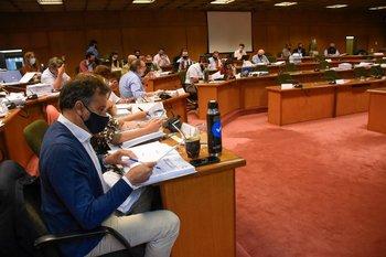 Reunión de la coalición multicolor por presupuesto anexo del Palacio Legislativo