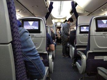Si bien el aforo no está regulado, la mayoría de los vuelos viajan con asientos vacíos