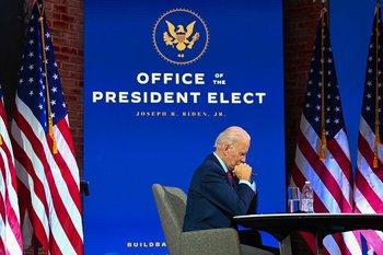 Joe Biden participa de una sesión virtual