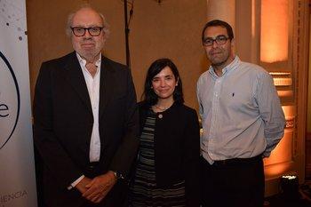 Eduardo Ameglio, María José Poey y Nicolás Oberti