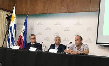 Vicente Plata, Fernando García Préchac y Mario Pérez