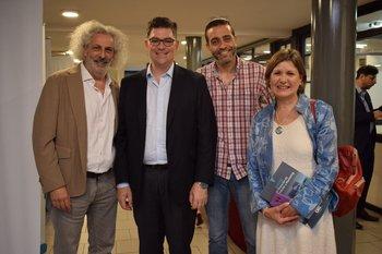 Gustavo Rubinsztein, Gonzalo Schettini, Andres Uturbey y Teresa Cometto
